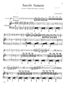 Sarasate P. - Fantasie on Faust Theme for Violin and Piano V.4