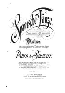 Sarasate P. - Introduction and Capriccio-Jota Op.41 for Violin and Orchestra Score