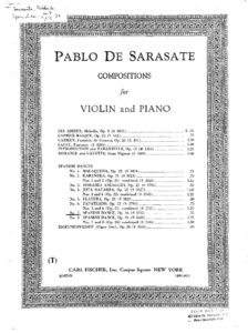 Sarasate P. - Spanish Dance №7 Op.26 for Violin and Piano