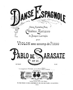 Sarasate P. - Spanish Dance Op.37 for Violin and Piano