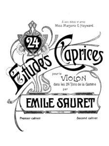 Sauret E. - Etudes-Caprices for Violin Solo Op.64 Book 2