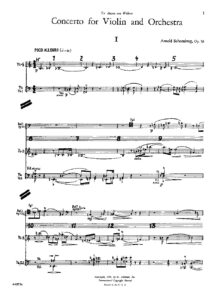 Schonberg A. - Concerto for Violin and Orchestra Op.36 Score