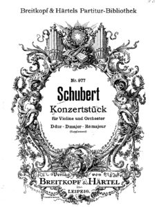 Schubert F. - Concertstuck for Violin and Orchestra D.345 Score V.2
