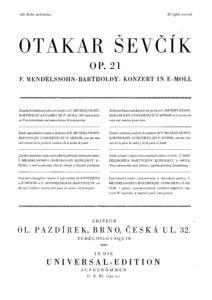 Sevcik O. - Analytical Etudes for the Performance of Mendelssohn's Concerto Op.21
