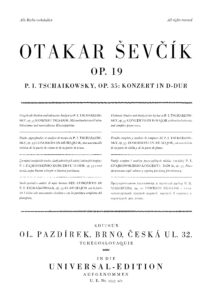 Sevcik O. - Analytical Etudes for the Performance of Tchaikovsky Concerto Op.19
