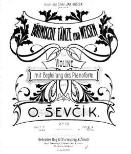 Sevcik O. - Czech Dances and Arias for Violin and Piano