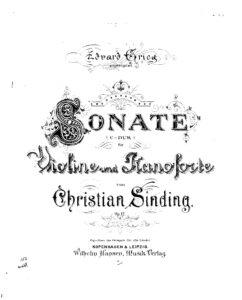 Sinding C. - Sonata for Violin and Piano C-Dur Op.12