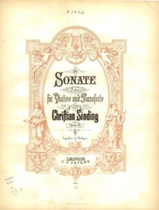 Sinding C. - Sonata for Violin and Piano E-Dur Op.27