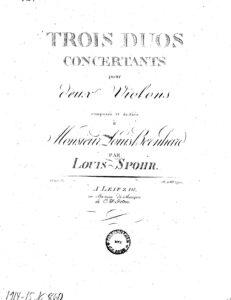 Spohr L. - 3 Concert Duos for Two Violins Op.3