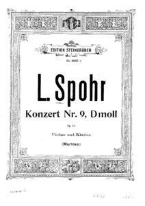 Spohr L. - Concerto №9 d-moll Op.55 for Violin with Orchestra