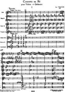 Stravinsky I. - Concerto for Violin and Orchestra Score