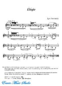 Stravinsky I. - Elegie for Violin Solo