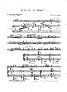 Stravinsky I. - Flight of the Nightingale for Violin and Piano