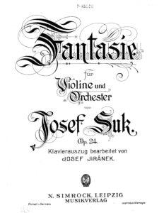 Suk J. - Fantasie for Violin and Piano Op.24