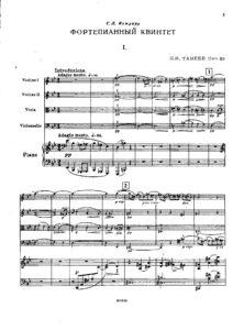 Taneev S. - Piano quintet g-moll, op.30