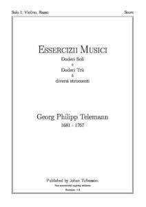 Telemann G.P. - 12 Etudes for Violin and Cello