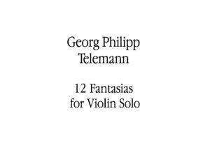 Telemann G.P. - 12 Fantasies for Solo Violin V.2
