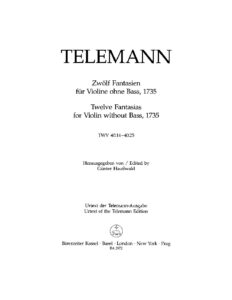Telemann G.P. - 12 Fantasies for Solo Violin V.4