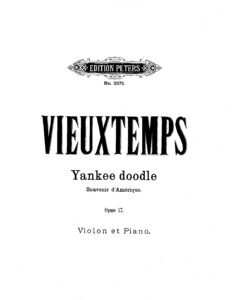 Vieuxtemps H. - American Souvenir for Violin and Piano Op.17