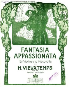 Vieuxtemps H. - Fantasia Appassionata for Violin and Piano Op.35 V.1