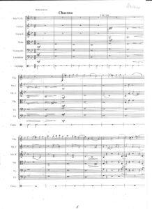 Vitali T. - Chaconne in G Minor for Violin and Orchestra Score