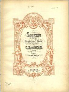 Weber C.M. - 6 Sonatas for Violin and Piano