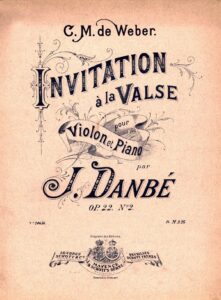 Weber C.M. - Invitation to Dance Op.65 for Violin and Piano (Danbe)