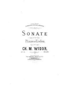 Widor C.M. - Sonata №1 for Violin and Piano Op.50