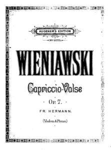 Wieniawski H. - Capriccio-Valse Op.7 for Violin and Piano V.2