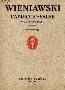 Wieniawski H. - Capriccio-Valse Op.7 for Violin and Piano V.4