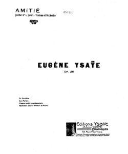 Ysaye E. - Amiti for Two Violins and Piano