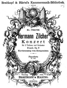 Zilcher H. - Concerto for Two Violins with Orchestra Op.9