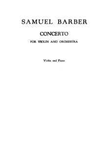 Barber S. - Concerto for Violin and Orchestra Op.14