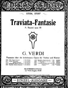 Bazzini A. - Fantasia on Themes of Verdi's Opera La Traviata Op.50 for Violin and Piano