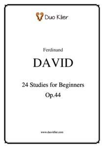 David F. - 24 Studies for Beginners for Violin Op.44+