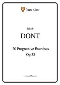Dont J. - 20 Progressive Exercises Op.38
