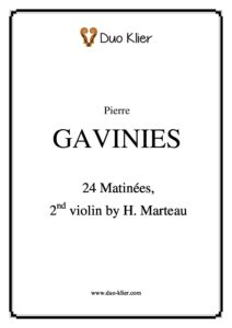 Gavinies P. - 24 Matinees for Two Violins (Marteau H. Second Violin)