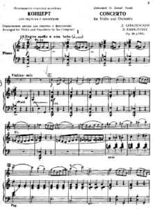 Kabalevsky D. - Concerto Op. 48 for Violin and Orchestra