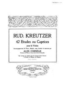Kreutzer R. - 42 Studies or Caprices for Violin with Accompaniment