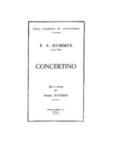 Kummer F. - Concertino C-Dur for Cello and Piano