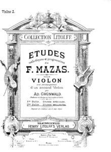 Mazas F. - Etudes for Two Violins Book 2 (Gunwald A. Second Violin)