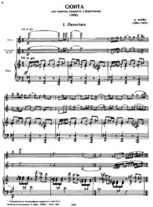 Milhaud D. - Suite for Violin, Clarinet and Piano