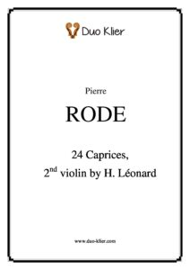 Rode P. - 24 Caprices for Two Violins (Leonard H. Second Violin)