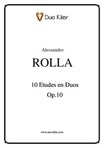 Rolla A. - 10 Etudes for Violin Op.10