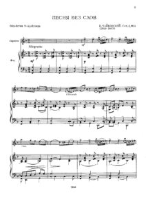 Tchaikovsky P. - Song Without Words for Violin and Piano V.2